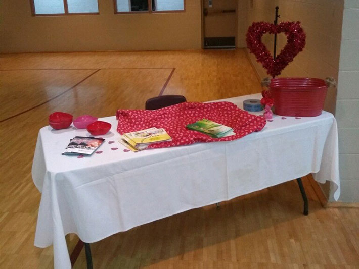 Table setup for Go Red event